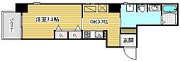 エスティメゾン神戸三宮[2階]の間取り