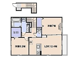 ラ・メゾンCRK[2階]の間取り