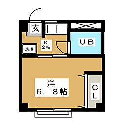 高野コーポ[2階]の間取り