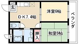 須崎ハイツ[2階]の間取り