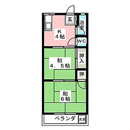 緑風ビル[4階]の間取り