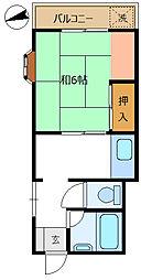 エスエイトマンション[205号室]の間取り