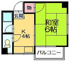 笹ハイツ[3階]の間取り