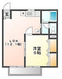 エルディムニイヅツミIV[2階]の間取り