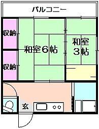 長谷川荘[1階]の間取り
