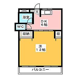 クロスヴィラ吉塚[2階]の間取り