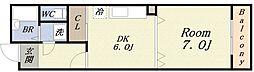 ドウェル倉本II[5階]の間取り