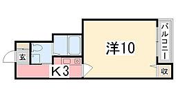 兵庫県姫路市南畝町1丁目の賃貸マンションの間取り