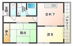 ハイタウン日吉町コーポ[2階]の間取り