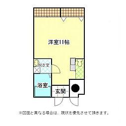 福岡県北九州市小倉北区清水2丁目の賃貸マンションの間取り