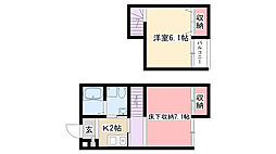 愛知県名古屋市南区柴田町2丁目の賃貸アパートの間取り
