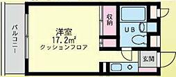 シティードームA棟[111号室]の間取り