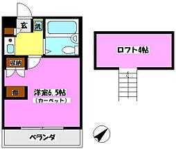 K・S新松戸クラブ[203号室]の間取り