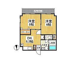 サンビーム戸塚[3階]の間取り