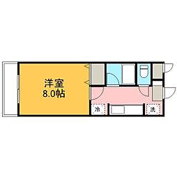 ブレインマンションササキ[301号室]の間取り