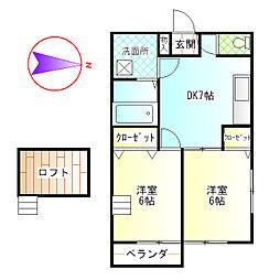 Oogami city[201号室]の間取り
