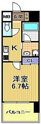 W.O.B.西九条[6階]の間取り