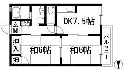 IMハイツ[2階]の間取り