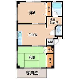 エスポアール21川永[1階]の間取り