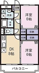 ブレインマンション156[3階]の間取り