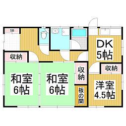 [一戸建] 長野県松本市村井町南4丁目 の賃貸【長野県 / 松本市】の間取り