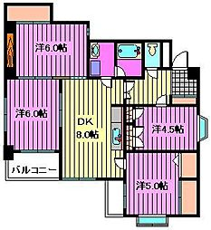 マンシオーネK・T[2階]の間取り