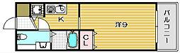 シャレー柿原[205号室]の間取り