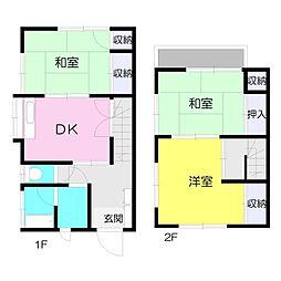 [テラスハウス] 神奈川県横浜市港北区高田西2丁目 の賃貸【/】の間取り
