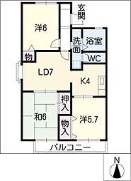 アークガーデン岩崎 E棟[2階]の間取り