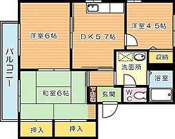 ディアス吉祥寺 A棟[2階]の間取り