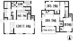 [一戸建] 兵庫県川西市新田3丁目 の賃貸【/】の間取り
