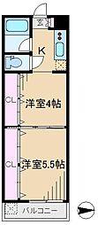 東京都文京区本駒込5丁目の賃貸マンションの間取り