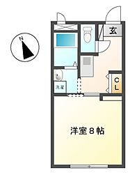 プチメゾン赤池[2階]の間取り