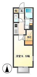 ルーチェ八田駅[1階]の間取り