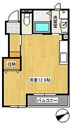 ガーデンハイツ柏井6[1階]の間取り