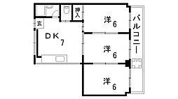 ASHIYA1555[3階]の間取り