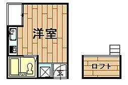 神奈川県川崎市中原区西加瀬の賃貸マンションの間取り