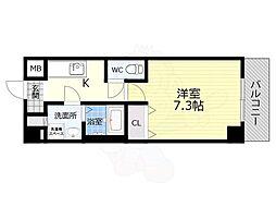 TOYOTOMI STAY PREMIUM 天王寺公園南3 4階1Kの間取り