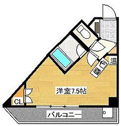 キャンパスシティ太宰府[408号室]の間取り