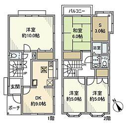 [一戸建] 神奈川県横浜市栄区飯島町 の賃貸【/】の間取り