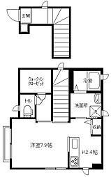 蒔田east[201号室]の間取り