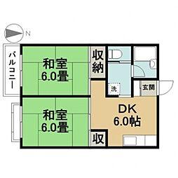 東京都江戸川区東葛西9丁目の賃貸アパートの間取り