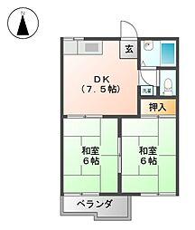 タウニー寿II[1階]の間取り