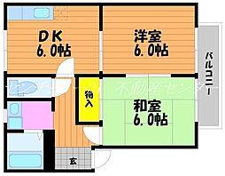 岡山県岡山市南区築港緑町3丁目の賃貸アパートの間取り