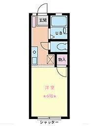 神奈川県横浜市南区八幡町の賃貸アパートの間取り