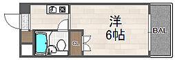 大阪府大阪市西淀川区佃1丁目の賃貸アパートの間取り