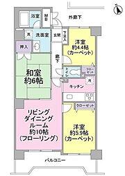 神奈川県横浜市西区浅間町3丁目の賃貸マンションの間取り