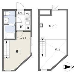 小田急江ノ島線 桜ヶ丘駅 徒歩4分の賃貸アパート 1階1Kの間取り