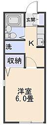 コーポKAZUKI[103号室]の間取り