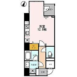 エトワール北新地 13階ワンルームの間取り
